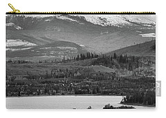 Carry-all Pouch featuring the photograph Black And White Breckenridge by Dan Sproul