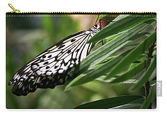 Black And White Butterfly -  Carry-all Pouch