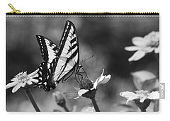 Black And White Butterfly On Flower Carry-all Pouch