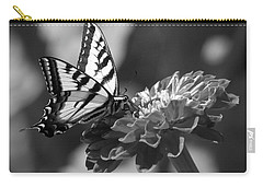 Black And White Butterfly On Zinnia Carry-all Pouch
