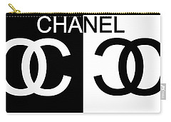 Black And White Chanel 2 Carry-all Pouch