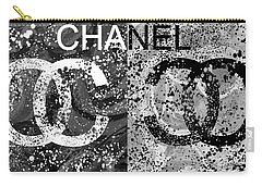 Black And White Chanel Art Carry-all Pouch