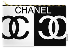 Black And White Chanel Carry-all Pouch