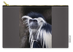 Black And White Colobus Monkey Carry-all Pouch