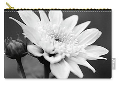Carry-all Pouch featuring the photograph Black And White Coreopsis Flower by Christina Rollo