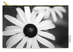 Carry-all Pouch featuring the photograph Black And White Daisies by Christina Rollo