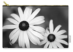 Carry-all Pouch featuring the photograph Black And White Daisy by Christina Rollo
