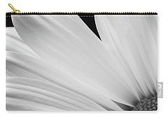 Black And White Daisy Flower Peeking Carry-all Pouch