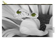 Black And White Daisy Water Carry-all Pouch