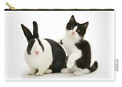Black And White Double Act Carry-all Pouch