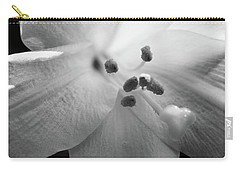 Black And White Easter Lily Carry-all Pouch
