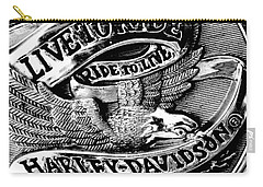 Black And White Emblem Carry-all Pouch