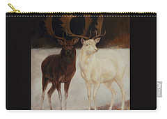 Black And White Fallow Deers Carry-all Pouch