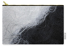 Black And White Fibers - Yin And Yang Carry-all Pouch by Matthias Hauser