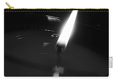 Carry-all Pouch featuring the photograph Black And White Flame by Robert Knight