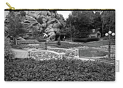Carry-all Pouch featuring the photograph Black And White Flower Garden Walkway by Aimee L Maher Photography and Art Visit ALMGallerydotcom