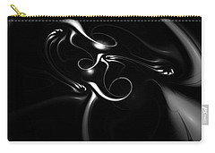 Black And White Fractal 080810b Carry-all Pouch