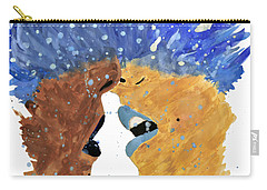 Romantic Kissing With Stars In Their Hair Carry-all Pouch