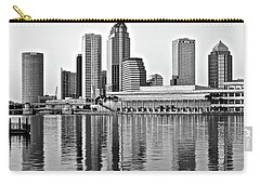 Black And White In The Heart Of Tampa Bay Carry-all Pouch by Frozen in Time Fine Art Photography