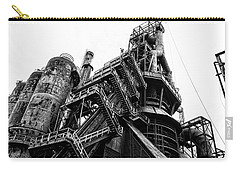 Black And White Industrial - Bethlehem Steel Carry-all Pouch by Bill Cannon