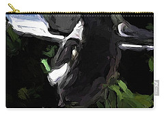 Black And White Magpie On The Porch Carry-all Pouch