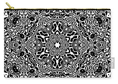 Black And White Mandala 34 Carry-all Pouch by Robert Thalmeier