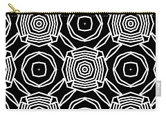 Black And White Modern Roses- Pattern Art By Linda Woods Carry-all Pouch