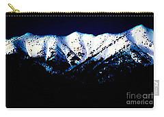 Black And White Mountains Carry-all Pouch by Jennifer Lake
