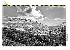 Black And White Of Coldwater Lake And Mt. St. Helens Carry-all Pouch