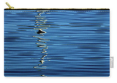Black And White On Blue Carry-all Pouch
