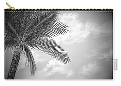Carry-all Pouch featuring the digital art Black And White Palm by Darren Cannell