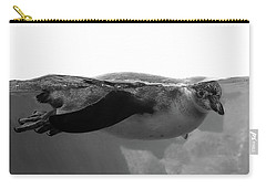 Black And White Penguin Carry-all Pouch