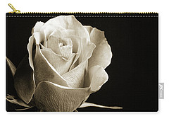 Black And White Rose 5534.01 Carry-all Pouch