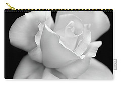 Carry-all Pouch featuring the photograph Black And White Rose Flower by Jennie Marie Schell