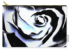 Black And White Rose - Till Eternity Carry-all Pouch