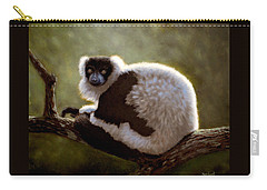 Black And White Ruffed Lemur Carry-all Pouch