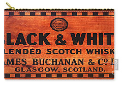 Black And White Scotch Whiskey Wood Sign Carry-all Pouch