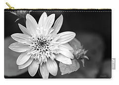 Carry-all Pouch featuring the photograph Black And White Sunrise Coreopsis by Christina Rollo