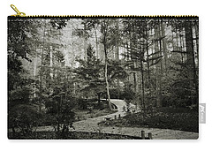 Black And White Vintage Edit -walk In Peace  Carry-all Pouch