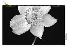 Black And White Wildflower Carry-all Pouch