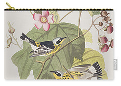 Black And Yellow Warblers Carry-all Pouch by John James Audubon