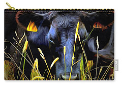 Carry-all Pouch featuring the photograph Black Angus Cow  by Janine Riley