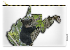 Black Bear Cub Climbing Down A Tree Carry-all Pouch