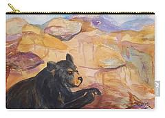Black Bear Cub Carry-all Pouch by Ellen Levinson