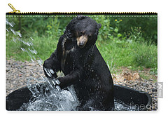 Black Bear Enjoys His Shower Carry-all Pouch