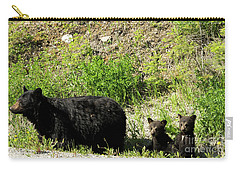Black Bear Family Carry-all Pouch