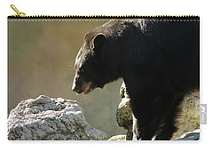Black Bear On The Rocks Carry-all Pouch