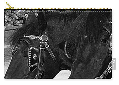 Carry-all Pouch featuring the photograph Black Beauties by Stuart Turnbull