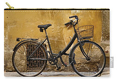 Black Bike In Florence Carry-all Pouch