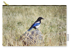 Black-billed Magpie Carry-all Pouch by Janie Johnson